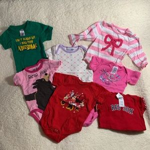 Other - Misc. Lot of SEVEN onesies and tops size 6 months